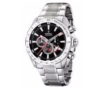 Armbanduhr schwarz / silber