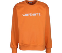 Sweatshirt dunkelorange