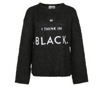 Strickpullover 'black' schwarz