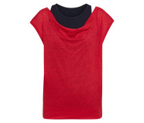 T Shirt bordeaux / schwarz