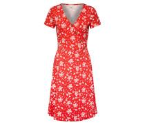 Kleid 'wrap dress Dresses knitted' rot