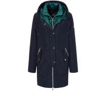 Outdoor-Jacke mit Kapuze blau