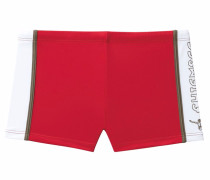 Boxer-Badehose rot / weiß