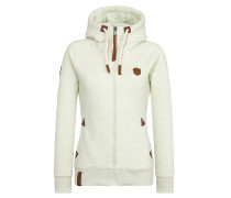 Sweatjacke 'Blonder Engel' ecru
