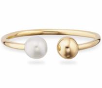 Perlenring 'love pearl twist' gold