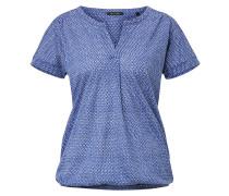 T-Shirt marine / weiß