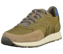 Sneaker hellbeige / blau / khaki
