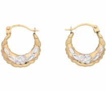 Paar Creolen 'Blume' gold / silber