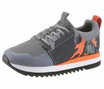 Sneaker grau / neonorange