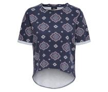T-Shirt taubenblau / dunkelblau