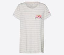 T-Shirt beige / hellgrau