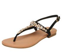 Sandale hellbraun / gold / schwarz