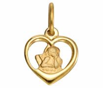 Herzanhänger »Herz mit Schutzengel« gold