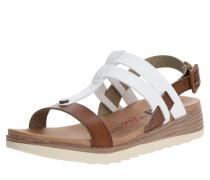 Sandale weiß / braun