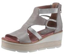 Sandalette taupe / silber