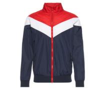 Übergangsjacke 'Arrow Zip Jacket' navy / rot / weiß