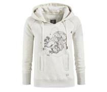 Sweatshirt 'santja With Print' grau / weiß