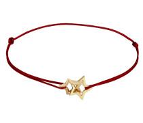Armband Sterne Textil-Armband gold / blutrot