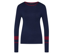 Pullover 'mily' nachtblau / weinrot