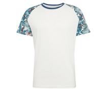 T-Shirt 'JOROlympia' blau / weiß