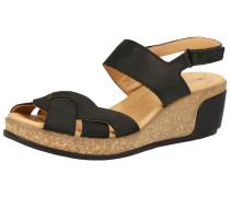 Sandalen schwarz / camel