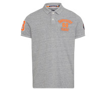 Poloshirt 'superstate' grau / orange