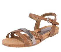 Sandale silber / kupfer / honig