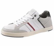 Sneaker 'Beyers' grau / rot / weiß