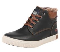 Sneaker High mit Webpelzfutter schwarz