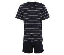 Pyjama navy / weiß