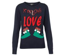 Pullover 'xmas-Love' blau / rot