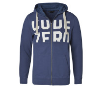 Sweater 'Cut & Sewn' blau / weiß