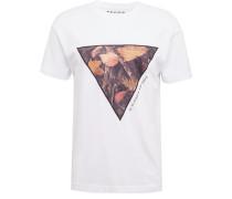 T-Shirt 'CN Triangle' mischfarben / weiß