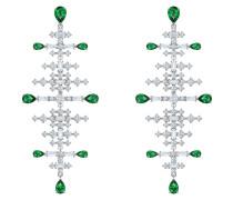 Ohrhänger grün / silber / transparent
