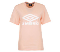 T-Shirt Damen rosa / weiß
