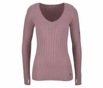 V-Ausschnitt-Pullover altrosa