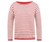 Strickpullover 'Hilde' rot / weiß