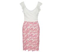 Kleid pink / weiß