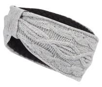 Stirnband mit Kaschmir hellgrau