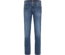 Jeans 'rando - Handcrafted' blue denim