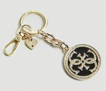Schlüsselanhänger 'Charm' gold / schwarz