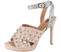 Sandaletten altrosa / silber