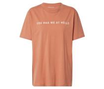 T-Shirt 'Stanley Print Tee' bronze
