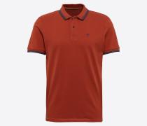 Poloshirt blau / orangerot
