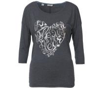 Shirt 'FlorenceTZ' graumeliert / silber