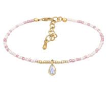Armband gold / altrosa / weiß