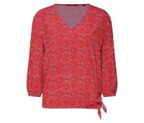 Blusenshirt mischfarben / rot