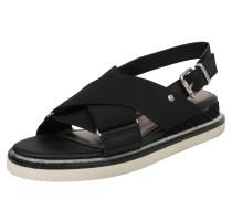 Sandalette 'sporty' schwarz