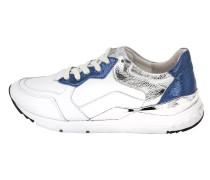 Sneakers blau / silber / weiß