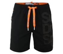Badeshorts orange / schwarz